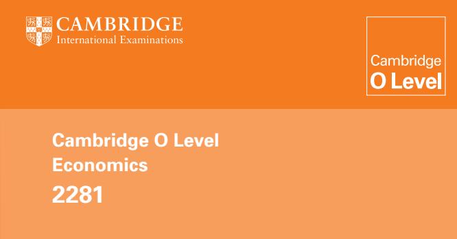 CIE O Level Economics (2281) Learner Guide | EconoMaldives