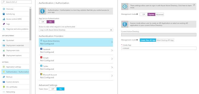 Azure AD App Configuration