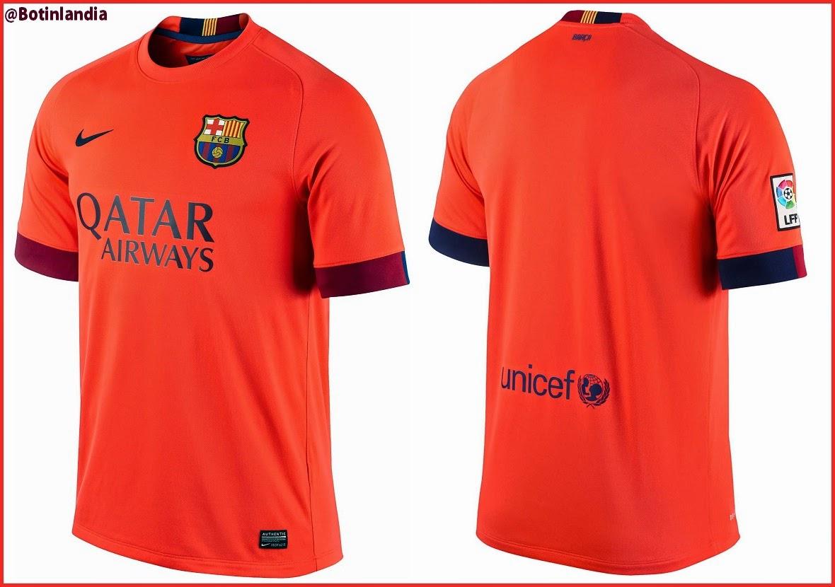 Nueva camiseta suplente del FC Barcelona para la temporada 2014 15 ... 69d25ec14f4fe