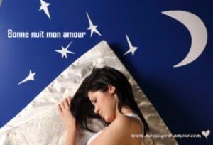 Mots d'amour le soir avant de dormir