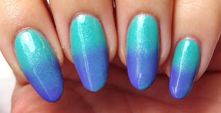 Aqua and Purple Gradient