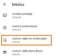 قرائة الفيديو عند انطفاء الشاشة