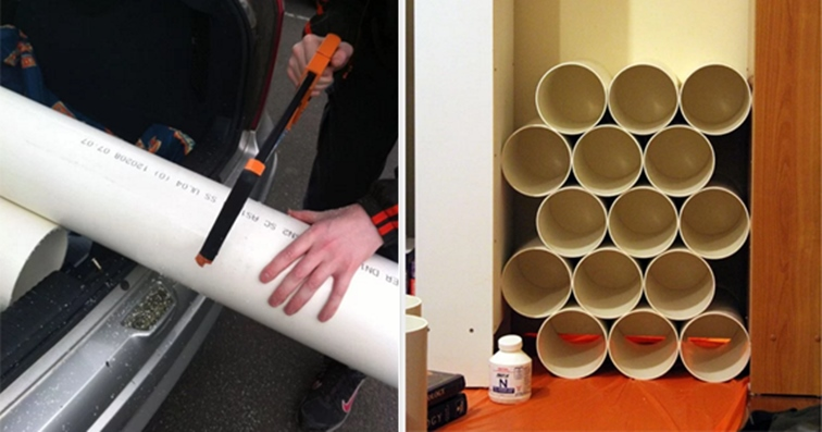 diy pvc pipe shoe rack handy diy