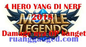4 Hero Mobile Legends Favorit Ini Terkena Nerf, Apakah Ada Hero Favoritmu?