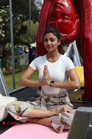 Bollywood Actress Shilpa Shetty Pos at Yoga Posed Statue Inauguration .COM 0008.jpg