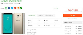 Harga baru Samsung Galaxy J6 (32 GB) Garansi Resmi SEIN di Tokopedia - DiamondCell