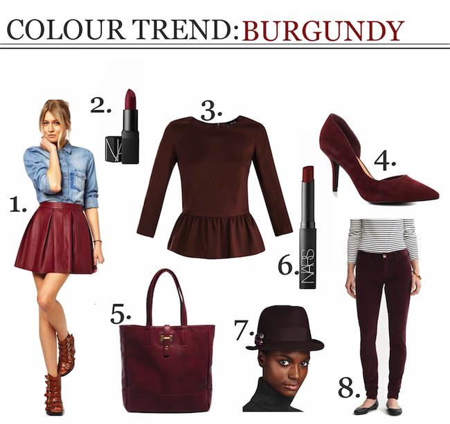 colour trend: burgundy