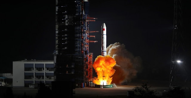 Long March 2C sends a triplet of Yaogan-30 satellites into orbit on Dec. 26, 2017. Photo Credit: Liang Keyan / Xinhua
