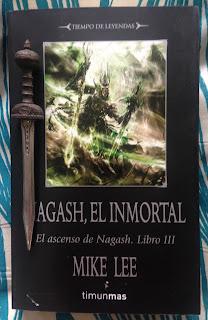 Portada del libro Nagash, el inmortal, de Mike Lee