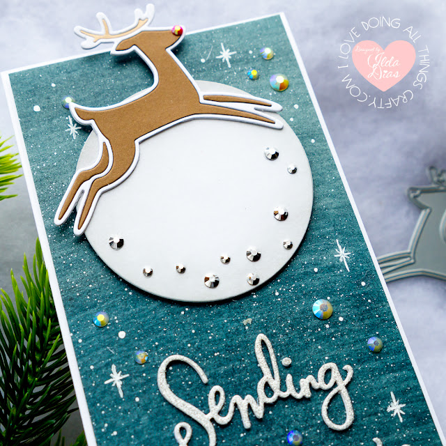 Dancing Deer Die for Simon Says Stamp Fun and Festive Release | Partial Spinner Card by ilovedoingallthingscrafty.com
