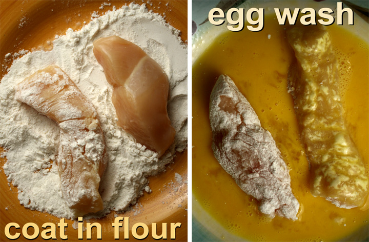 Flour Wash Chicken Egg No