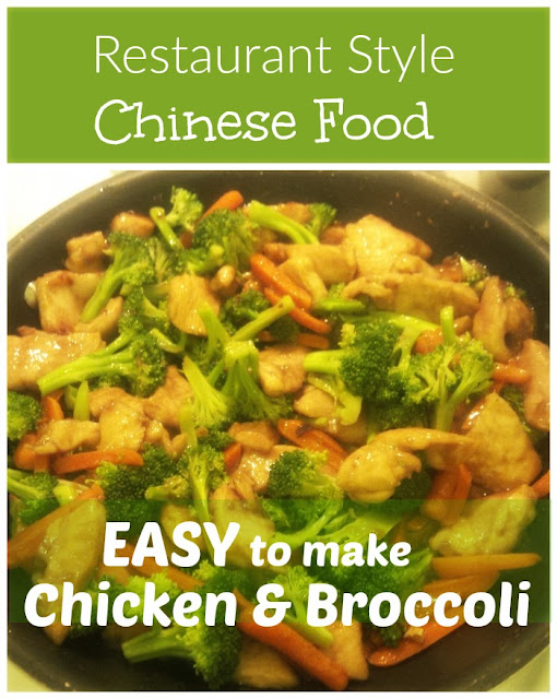 Authentic Chinese food chicken and broccoli
