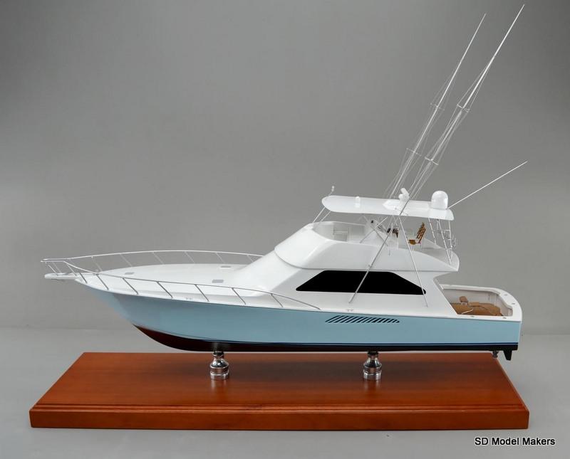36 inch Replica Model of a Viking 63 sport fishing boat | SD Model