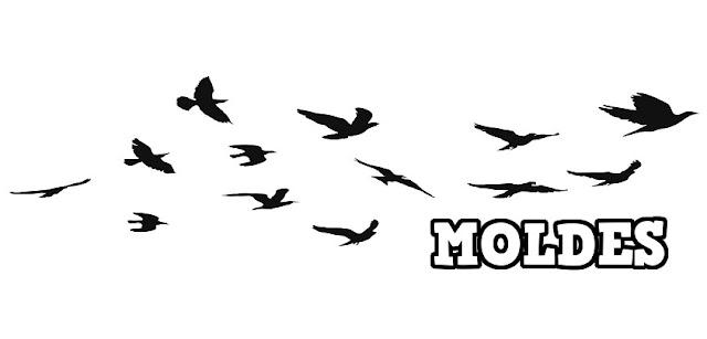 Moldes de pássaros para imprimir