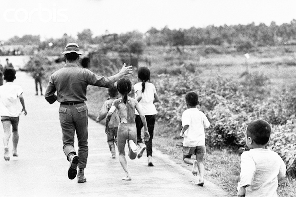 08 Jun 1972, Trang Bang, South Vietnam --- Children Running from Village