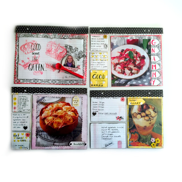 Collector Card Recipes by Ombretta Fusco using Petal Lane Collection and Pentart Lasur for interior use