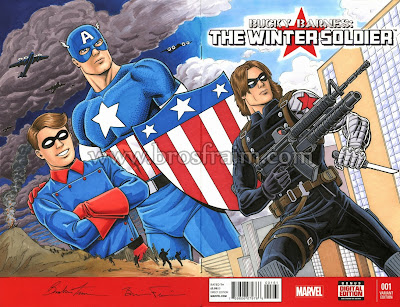 BUCKY BARNES: THE WINTER SOLDIER #1 Sketch Cover!