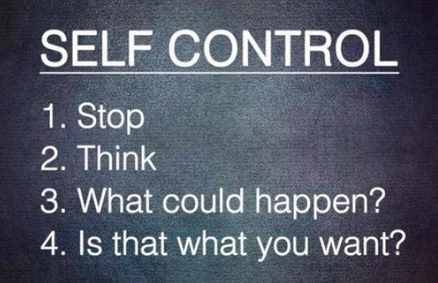 Be Conscious and Have Self Control // Day .17