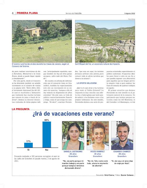 El turisme a la comarca del vall s oriental - El tiempo en el valles oriental ...