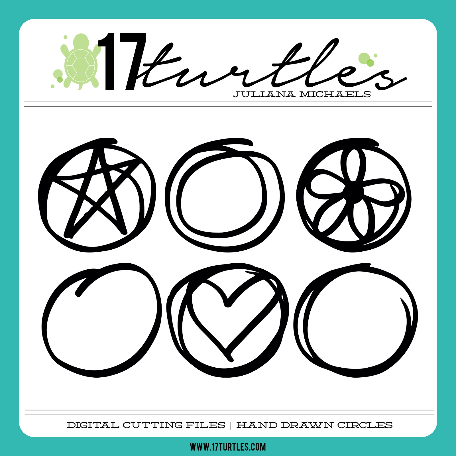 Hand Drawn Circles Free Digital Cut File by Juliana Michaels 17turtles.com