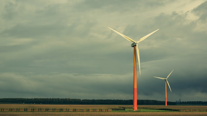 Wallpaper: Renewable Energy. Landscape. Windmills. Nature