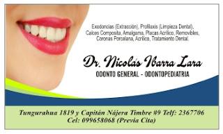 Tarjeta personal para dentistas