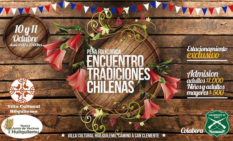 10 y 11 de octubre Encuentro de tradiciones chilenas en Huilquilemu 8914522d04df
