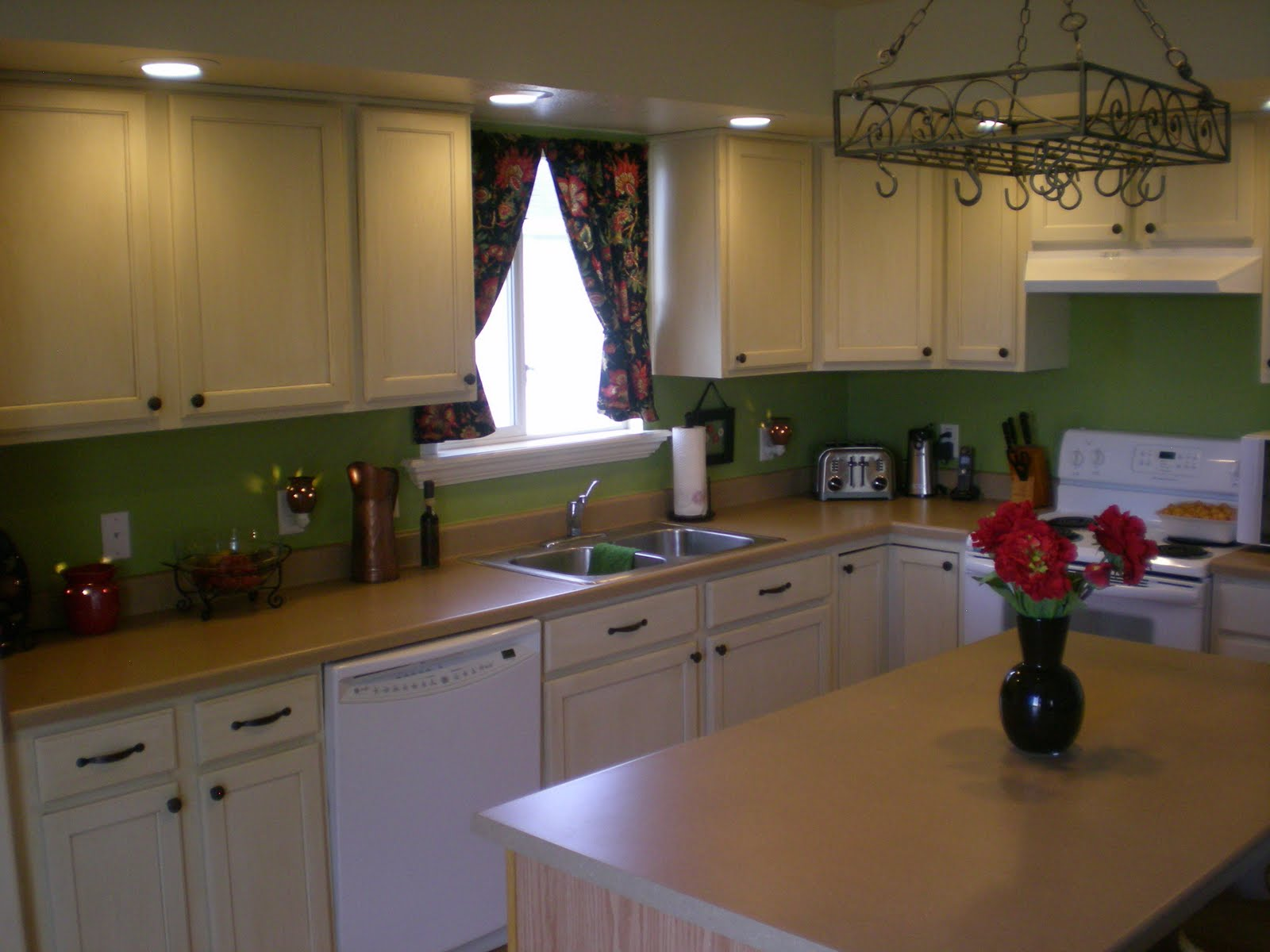 Distressed White Kitchen Cabinets Painting