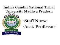 IGNTU, Madhya Pradesh Staff Nurse, Nursing jobs, Staff Nurse job, Staff Nurse Vacancy,