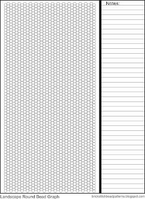 Printable landscape orientation brick stitch graph paper.