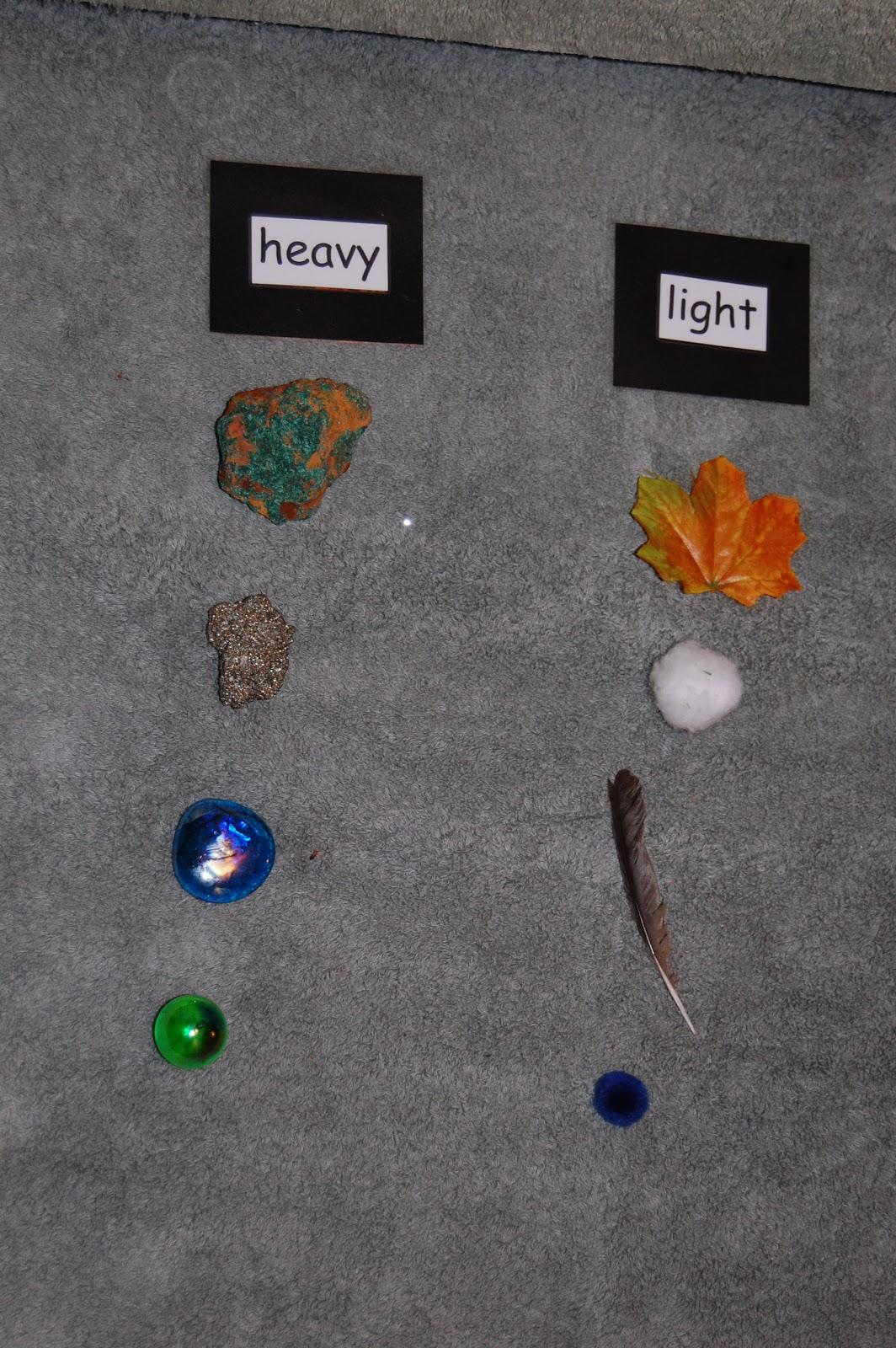 Montessori Design Heavy Light Sorting