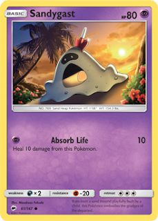 Sandygast Burning Shadows Pokemon Card