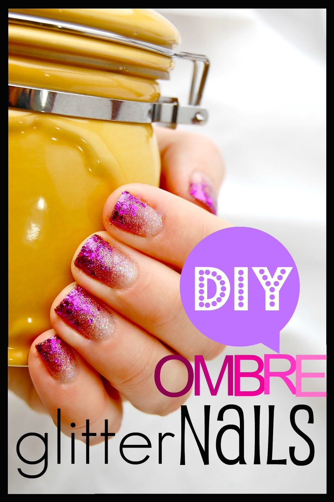 Ombre Glitter Eye Makeup Brushes Set Rose Gold In Make Up: That's So Cuegly: DIY Ombre Glitter Nails