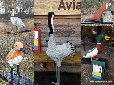 Martin Mere Wetland Centre Giant LEGO trail birds Otter