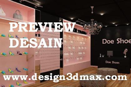 Jasa desain konsep baru toko sepatu remaja di mall
