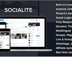 Socialite v3 1 – Responsive Laravel Social Network PHP