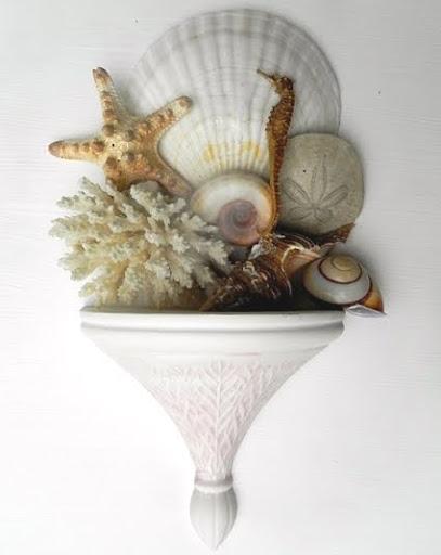 wall sconce shelf with sea life