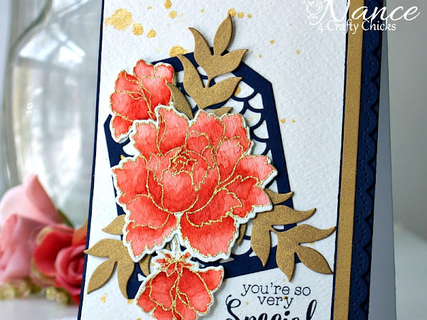 4CC #333 - Navy, Gold, Coral