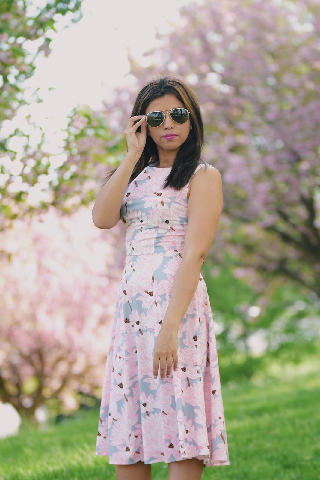 Cherry Blossom Dress-mariestilo-lightinthebox-fashionblogger-lookoftheday-primavera-spring style-armandhugon-celebrando la primavera