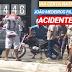 Acidente carro x moto na João Medeiros Filho