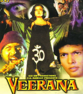 Poster Of Bollywood Movie Veerana (1988) 300MB Compressed Small Size Pc Movie Free Download worldfree4u.com