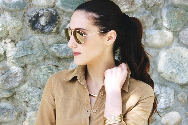 H&M gold mirrored sunglasses.H&M gold sleek cuff.H&M zlatna narukvica.H&M zlatne mirrored naocare za sunce.