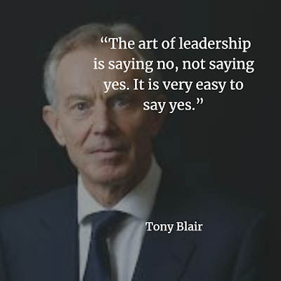 The art of leadership is saying no, not saying yes