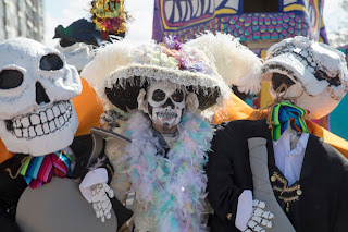 Portraits from Day of the Dead/Viva La Vida festivities in Austin, Texas for Dia de los Muertos
