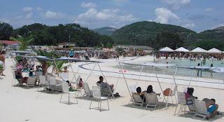 Parque acuático arena en Barquisimeto. Es la primera playa artificial de Venezuela. Playa  artificial de Barquisimeto