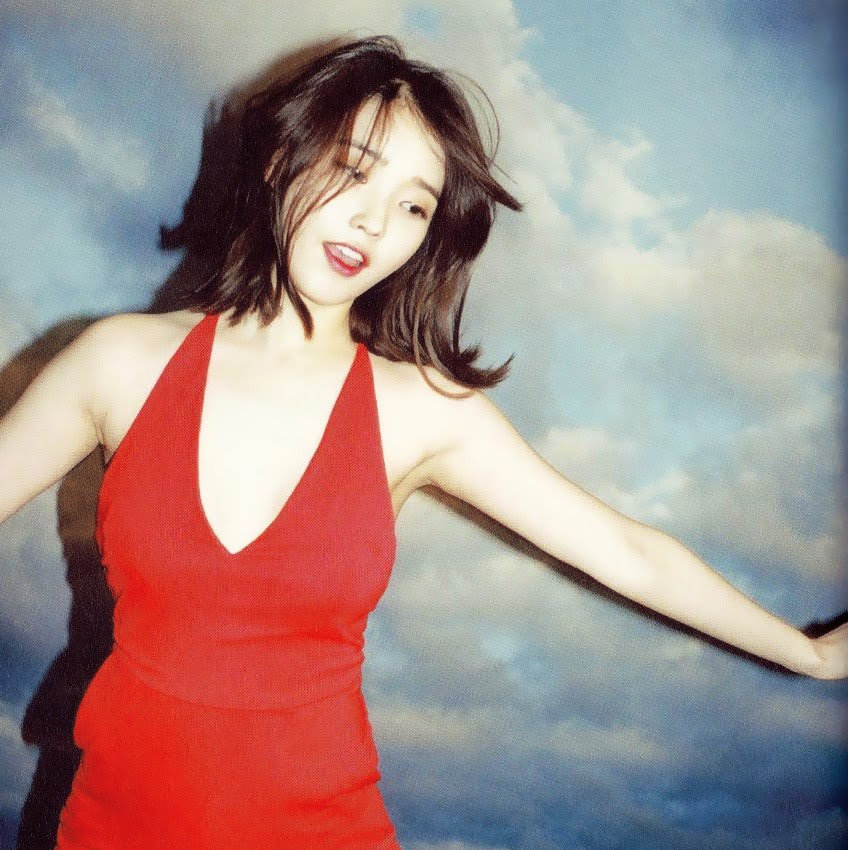 Iu Shows Off Her Slim Figure In Red Dress Daily K Pop News
