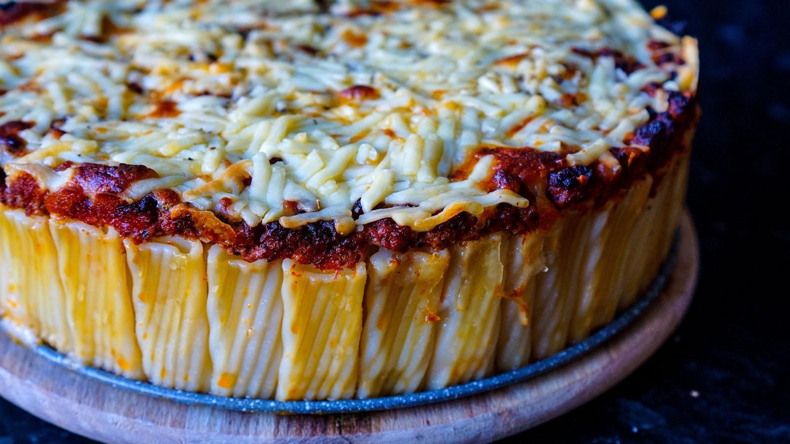 Rigatoni Cheesy Pasta Pie | Pasta Bake