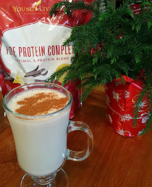 Santa's Nightcap: A Healthy  Vanilla-Almond Cocktail. It's delish, and packed with a protein punch, too.