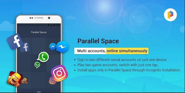Aplikasi Parallel Space Akun Berganda Apk Terbaru