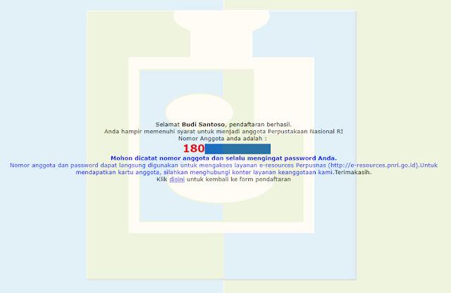 Nomor Anggota Perpustakaan Nasional RI - udibaracom